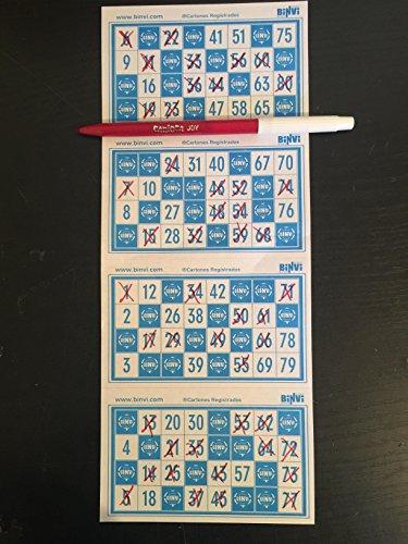 4800 cartones de Bingo BINVI