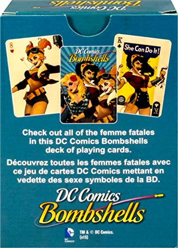 AQUARIUS DC Bombshells Juego de Cartas Deck