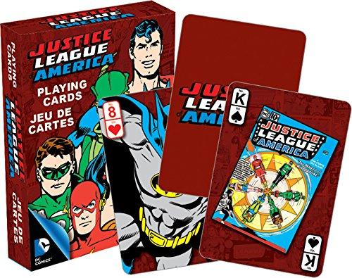 AQUARIUS DC Comics- Retro Deck de Cartas, diseño de Liga de la Justicia