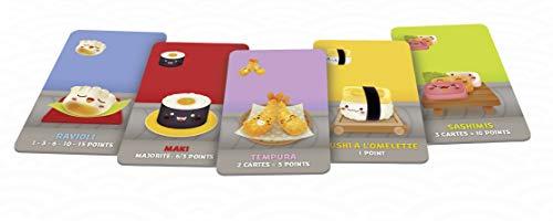 Asmodee-Sushi Go, CGSUS01, Juego de Ambiente