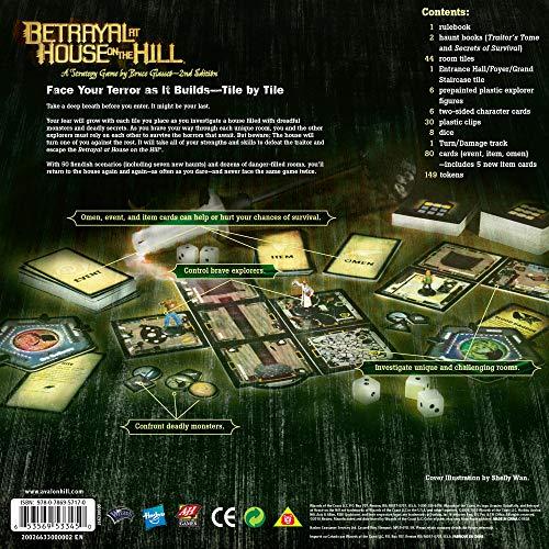 Avalon Hill / Wizards of the Coast 26633 Betrayal at House on the Hill - Juego de mesa de misterio (en inglés) , color/modelo surtido