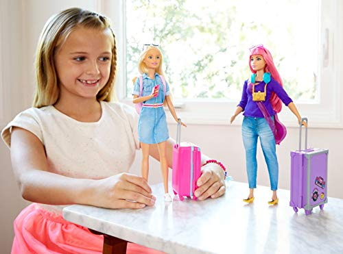 Barbie Vamos de viaje, muñeca con accesorios (Mattel FWV25)