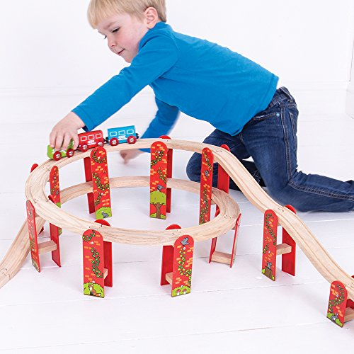 Bigjigs Rail Paquete de expansi?n de v?as de Alto Nivel