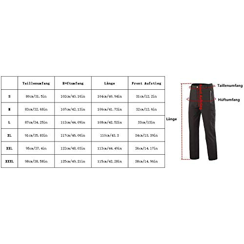 Cestbon Soft Shell Pantalones Pantalones de Camuflaje de los Hombres de Trekking Lana Forrada Pantalones de Pantalones de esquí Prueba de Viento Impermeables Larga Caza Pantalones,Marrón,XXXL