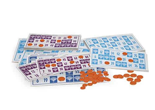 Chicos-Bingo Lotería electrónica con 24 cartones y 90 bolas imborrables, 22.5 x 37 x 10.5 cm, incluye fichas de juego, (22302) , color/modelo surtido