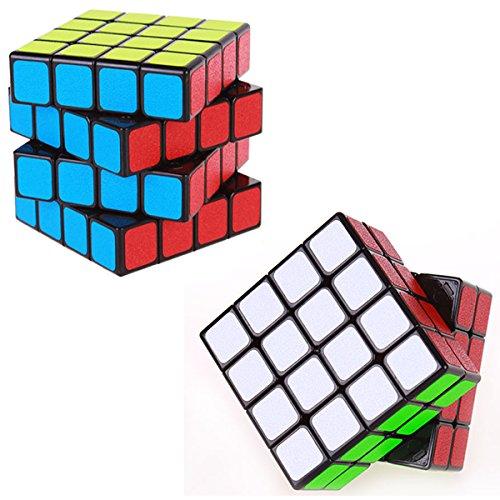 COOJA Cubo Mágico 4x4x4, Velocidad Rompecabeza Cubos con Easy Turning, Brain Teaser para Niños y Adultos