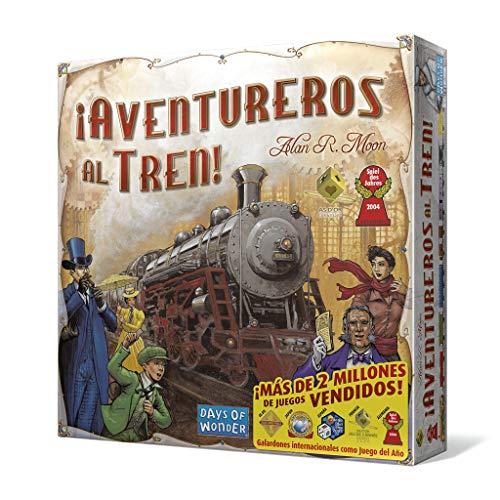 Days of Wonder- Aventureros Al Tren - Español, Multicolor, Talla Única (DW7281)