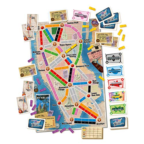 Days of Wonder-¡Aventureros al Tren New York-Español, multicolor (Edge Entertainment DW720860) , color/modelo surtido