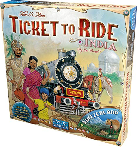 Days Of Wonder - Juego de tablero, 2 a 4 jugadores, mapas de India y Suiza (DOW720114) (versión en Italiano)
