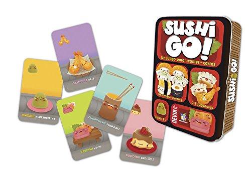 Devir- Sushi Go Juego de Mesa, Multicolor, Miscelanea (BGSUSHI)