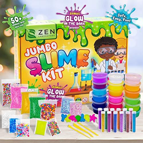 DIY Slime Kit Set para Manualidades Niños, Kit de Slime para Hacer Juego Slime - Fabrica de Slime - El Mejor Kit Slime Factory con Purpurina que Brilla Oscuridad Bolas – 18 x Caja Sorpresa de Slime