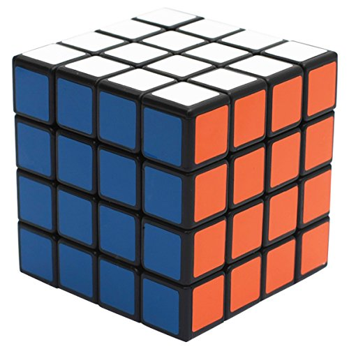 EASEHOME 4x4x4 Speed Magic Puzzle Cube, Rompecabezas Cubo Mágico PVC Pegatina para Niños y Adultos, Negro