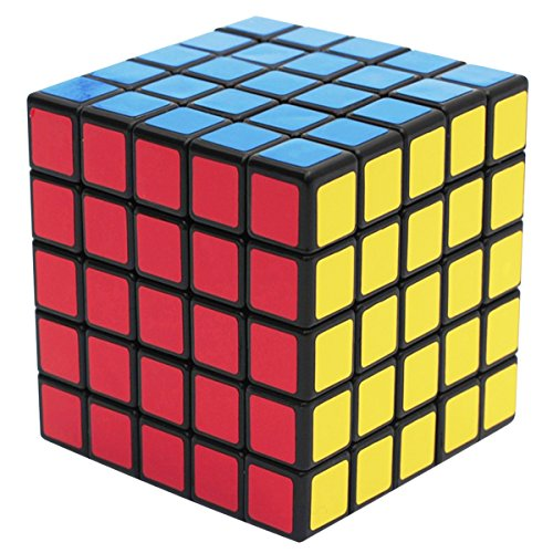 EASEHOME 5x5x5 Speed Magic Puzzle Cube, Rompecabezas Cubo Mágico PVC Pegatina para Niños y Adultos, Negro