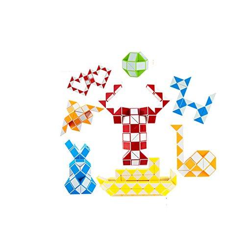EasyGame - magia de la serpiente torcedura del cubo rompecabezas (azul, 48)