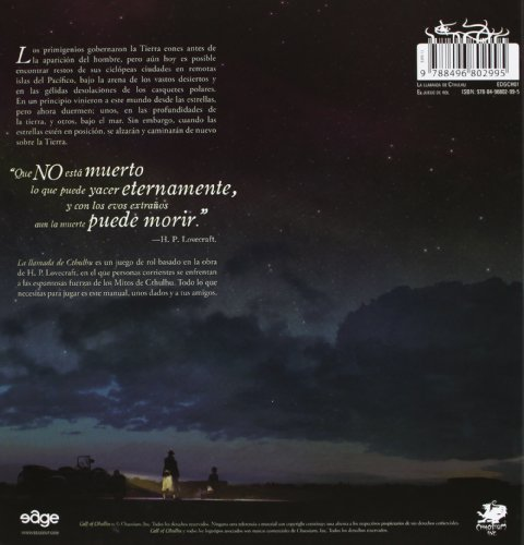 Edge Entertainment-La Llamada De Cthulhu-Español, Multicolor (EECHCC01)