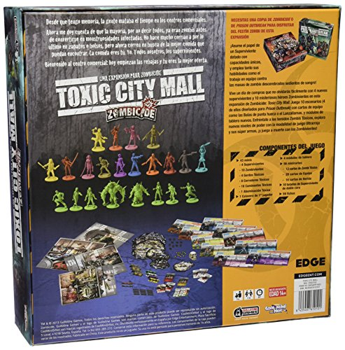 Edge Entertainment- Zombicide: Toxic City Mall, (EDG0EDGZC02)