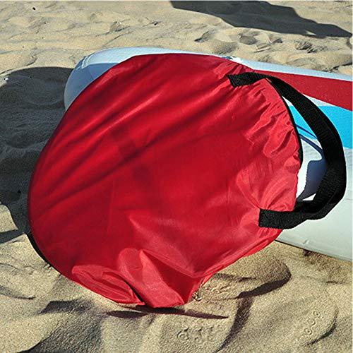 EDTara 42in / 108cm Vela Plegable Kayak Barco Wind Sail Sup Paddle Board Vela Canoa Trazo Paddle Remo Barcos Viento Ventana Clara Naranja 108cm