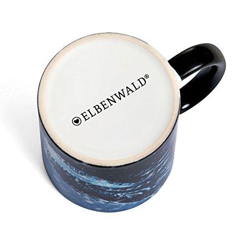 Elbenwald Dragón de Hielo Taza Viserion para el Juego de Tronos Ventiladores Azul de cerámica 320ml