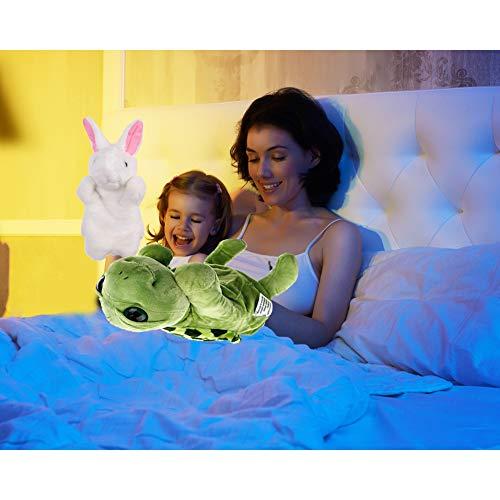 EQLEF Títeres de Mano para niños y Adultos, Lindos muñecos de Mano, Animales, Juguetes Divertidos para Conejos y Tortugas para Contar Historias y Juegos Escolares (Paquete de 2)