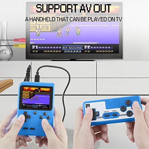 ETPARK Consola de Juegos Portátil, 400 Juegos Retro Consola con 2.8 Pulgadas Pantalla a Color Soporte Dos Jugadores y Conexión de TV con Batería recargable de 800 mAh Presente para niños y adultos