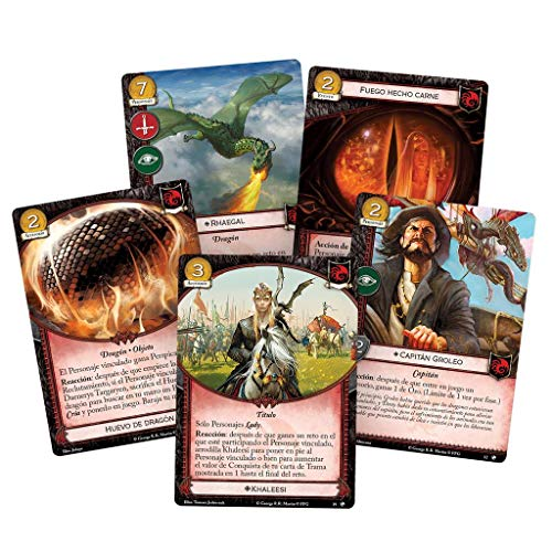 Fantasy Flight Games-Juego de Tronos LCG-Dragones del Este, Color (GT53ES)