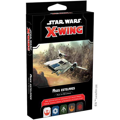 Fantasy Flight Games- Star Wars X-Wing 2.0 - Ases estelares, Color (SWZ66ES)