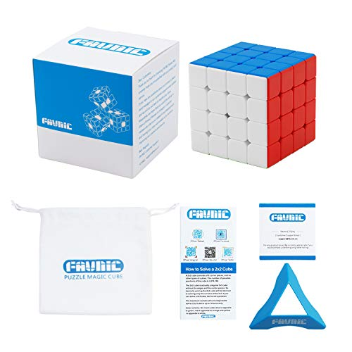FAVNIC Speed Cube, Magnetic Magic Cube 4X4 Rompecabezas sin Etiqueta Juguetes para niños y Adultos