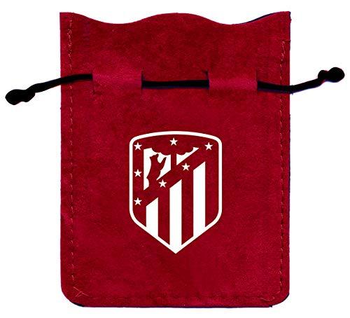 Fournier- Set Blister Oficial del Atlético de Madrid Conjunto de Mus con Baraja Española de 40 Cartas, Tapete y Amarracos en Bolsa de Antelina, Color Colchonero (1044181)