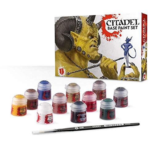 Games Workshop Citadel 99179950002 - Set básico de pinturas con 1 pincel y 11 botes de Pinturas