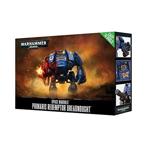 Games Workshop- Easy To Build Etb Primaris Redemptor Dreadnought - Juego de Mesa y Miniatura, Color Azul, Talla única (48-87)