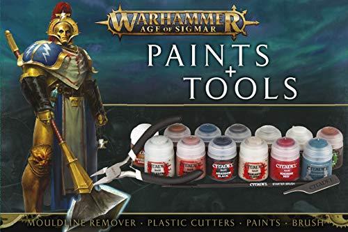 Games Workshop Warhammer Age of Sigmar - Set DE Pinturas Y Herramientas