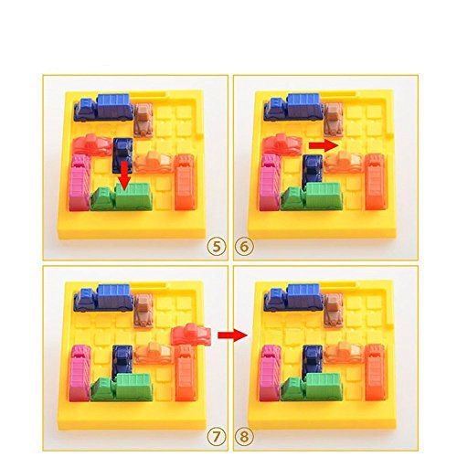 Georgie Porgy Juegos de Mesa Puzzler Juegos Ingenio Juegos de Logica para Niños Adultos (Trafficjam Puzzle) Niños