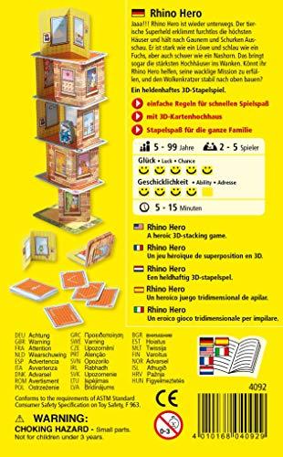 Haba - Juego de cartas  Rhino Hero, 2 a 5 jugadores (4092)