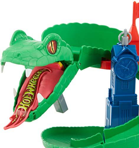 Hot Wheels City Cobra Infernal, pista de coches de juguete (Mattel FNB20)