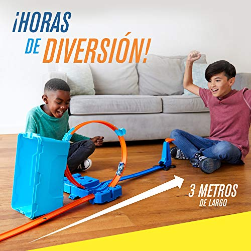 Hot Wheels - Track Builder, Caja Multiloopings, accesorios para pistas  - (Mattel FLK90)