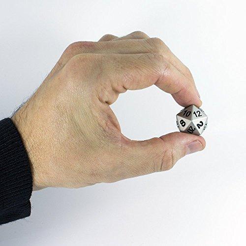 Juego de dados Paladin de rol, sólido y de metal, en caja de presentación.