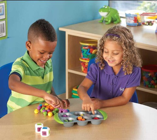 Learning Resources- Set de Actividades de matemáticas Mini Muffin Match Up, Color (LER5556)