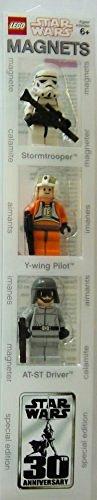 LEGO 4508087 Star Wars - Figuras magnéticas (Soldado de Asalto, piloto rebelde y piloto de AT-ST)