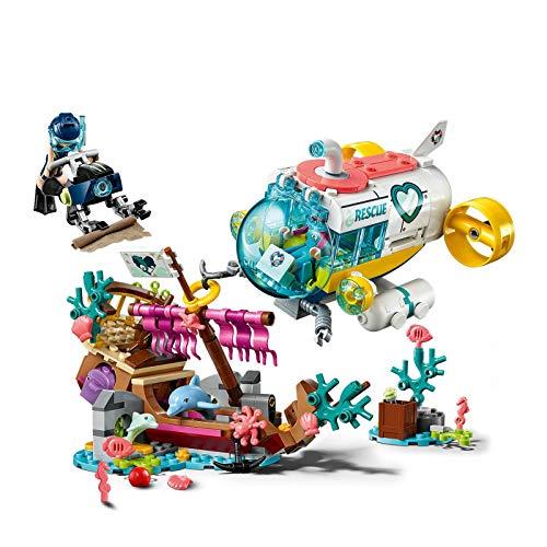 LEGO Friends - Misión de Rescate: Delfines Nuevo set de construcción de juguete de Barco Hundido y Robot Submarino Busca Tesoros (41378)