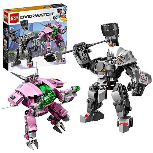 LEGO Overwatch - D.Va & Reinhardt, Juguete de Construcción de Personajes del Videojuego con Trajes Robóticos (75973)