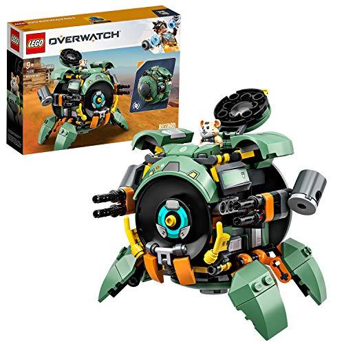 LEGO Overwatch - Wrecking Ball, Juguete de Construcción Inspirado en el Videojuego, Robot de Juguete para Recrear Aventuras, Incluye Minifigura de Hammond (75976)