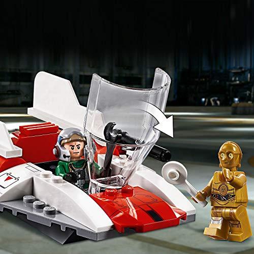 LEGO Star Wars - Caza Estelar Rebelde Ala-A, juguete de construcción de nave de La Guerra de las Galaxias con minifigura de C-3PO (75247)