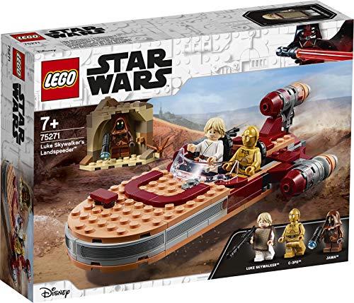 LEGO Star Wars - Speeder Terrestre de Luke Skywalker, Juguete de Construcción de la Película Guerra de las Galaxias, Incluye Minifiguras de Luke y C-3PO (75271)