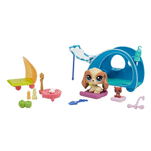 Littlest Pet Shop Littlest Pet Shop-E2103ES0 Campamento Feliz (Hasbro E2103ES0)
