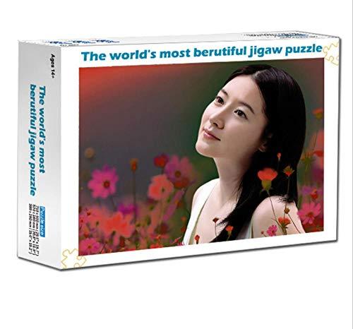 LIWEIXKY Beautiful View Puzzle Puzzle de 1000 Piezas para Adultos Juego de descompresión de Madera Dura Grande Diversión: Las Banderas levantadas por el Viento del Norte del Tíbet