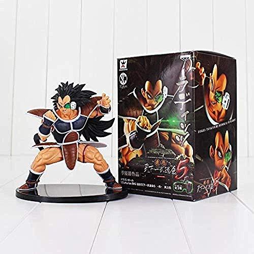 LWH-MOU Nuevo Dragon Ball Z Super Saiyan Nappa Goku Raditz Ultimate Form Anime Combat Edition PVC Figura de acción Juguetes coleccionables Raditz con Caja-Nappa con Caja-Raditz con Caja