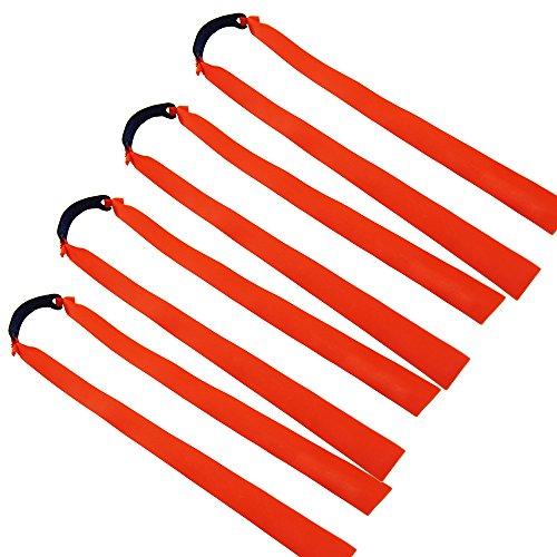 Mangobuy - 10 bandas de gomas elásticas planas para tirachinas de madera para exteriores, naranja