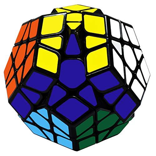 Maomaoyu Megaminx 3x5 Dodecaedro Speed Cube Cubo Magico(Negro)