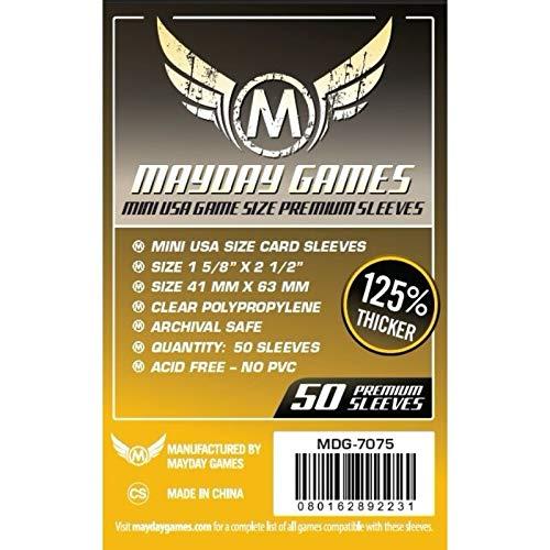 Mayday Juegos 41x 63mm Mangas Mini Estados Unidos Premium–Juego de Cartas (Pack de 50)