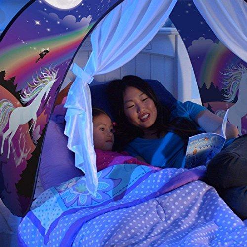 Miaogo Tents Parte Tiendas de campaña Cama Cama Tienda Tienda de ensueño Kid 's Fantasy niños Dormitorio Decoración (Unicornio)